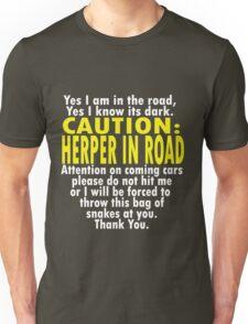 CAUTION: Herper Unisex T-Shirt