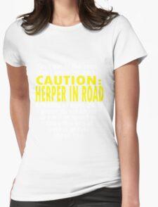 CAUTION: Herper Womens Fitted T-Shirt