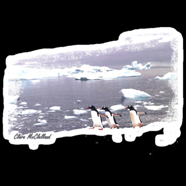Three Amigos penguin  TSHIRT by Clare McClelland
