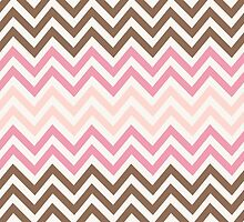 Neapolitan Ice-Cream Chevron pattern by Tee Brain Creative