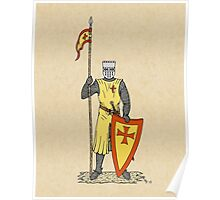 Crusader Knight, Early 13th Century Poster