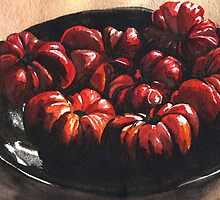Heirloom Tomatoes by Denise Faulkner