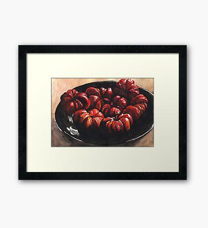 Heirloom Tomatoes Framed Print