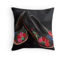 Chinese Yi Baby Shoes Throw Pillow