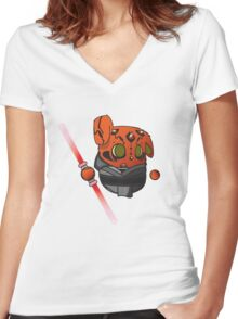 Darth Maul wabbit Women's Fitted V-Neck T-Shirt