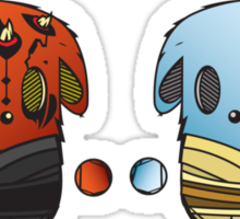 GOOD VS EVIL Sticker