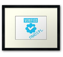 Verified Fangirl Framed Print