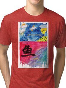 Sentiment fishing Tri-blend T-Shirt