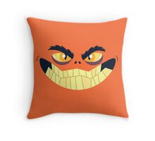 Monster Mugs - Smiley Throw Pillow