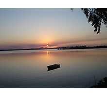 Boat  Sunset Photographic Print
