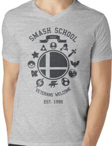 Smash School - Smash Veteran Mens V-Neck T-Shirt