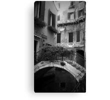Venetian Alley in BW Canvas Print