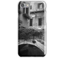 Venetian Alley in BW iPhone Case/Skin