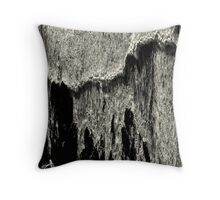 Pulling the curtain Throw Pillow