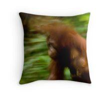 Orangutan Mother and Child Throw Pillow