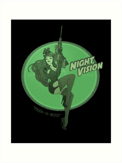 Night Vision Pin Up by Lily McDonnell