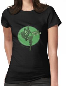 Night Vision Pin Up Womens Fitted T-Shirt