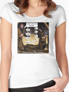 Lesser known Bible Stories - Naming Jesus Women's Fitted Scoop T-Shirt