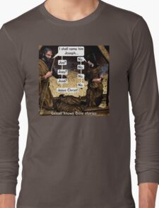 Lesser known Bible Stories - Naming Jesus Long Sleeve T-Shirt