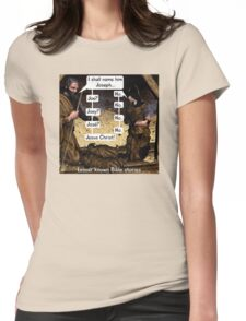 Lesser known Bible Stories - Naming Jesus Womens Fitted T-Shirt