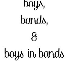 Boys, Bands & Boys In Bands  by Donna Graves
