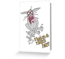 Mad as a March Hare. Greeting Card