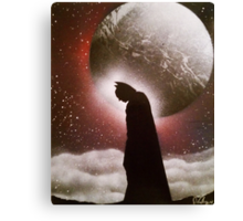 Dark Knight - Space Painting Spray Art Canvas Print