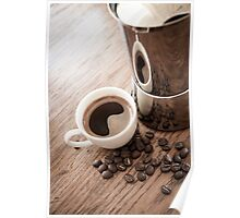 Coffee and coffee pot Poster