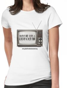 Unplug The TV Womens Fitted T-Shirt
