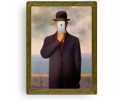 Man with Apple Canvas Print