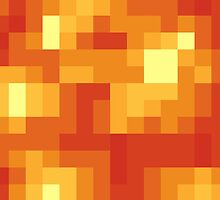 Pixel Lava Block for Gamers by Tee Brain Creative