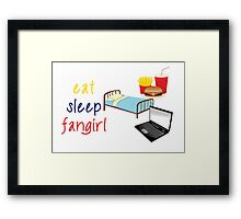 Eat, sleep, fangirl Framed Print
