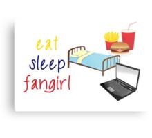 Eat, sleep, fangirl Metal Print
