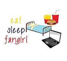 Eat, sleep, fangirl Photographic Print