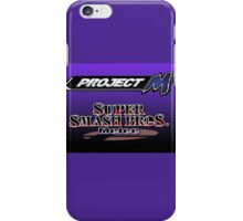 Zelda with Melee and Project M logos iPhone Case/Skin