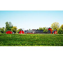 The Red Barns Photographic Print