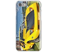 Yellow Purvis Eureka with Black bonnet iPhone Case/Skin