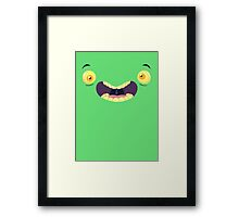 Monster Mugs - Cray Cray Framed Print