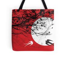 Oriental Swallows In Moonlight  Tote Bag