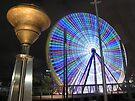 Ferris Wheel after dark by Travis Easton