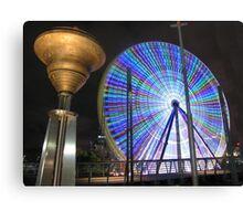 Ferris Wheel after dark Canvas Print