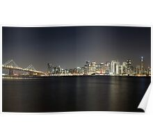 San Francisco Holiday Skyline Poster
