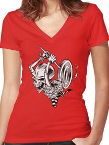 Skullgirl Women's Fitted V-Neck T-Shirt