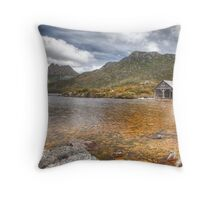 Boat Shed - Cradle Mountain, Tasmania Throw Pillow