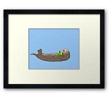 Otters Like Rubik's Cubes Framed Print