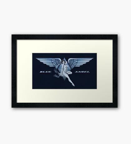 Blue Angel Pinup Framed Print