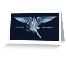 Blue Angel Pinup Greeting Card