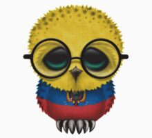 Nerdy Ecuadorian Baby Owl on a Branch Kids Clothes