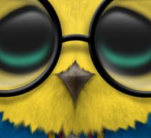 Nerdy Ecuadorian Baby Owl on a Branch Sticker