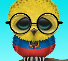 Nerdy Ecuadorian Baby Owl on a Branch by Jeff Bartels